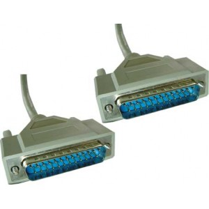 Cable Sub-D 25P M-M 10MTS