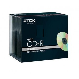 CD-R Printable 700Mb 52x Pack 10 Unds.