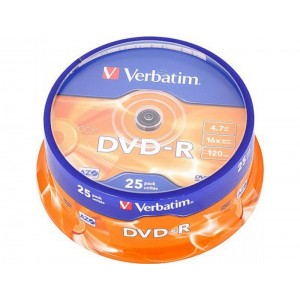 DVD-R Grabable 4.7GB 16x Tarrina 25 Unds.