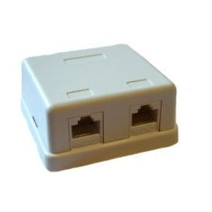 Roseta Superficie 2 RJ45 CAT5e