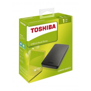 "Disco Duro 500GB TOSHIBA CANVIO BASICS 2.5"" USB 3.0"