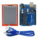 Kit Arduino UNO compatible + Shield TFT LCD Táctil