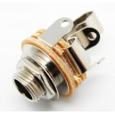 Conector Jack 6.3mm. Hembra Estéreo Chasis