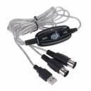 Cable USB a Midi x2 DIN 5 Pines (IN y OUT) 1.8Mts.